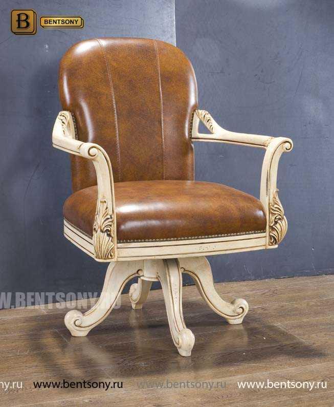 Кресло Кабинетное Феникс (Классика, натуральная кожа) для загородного дома
