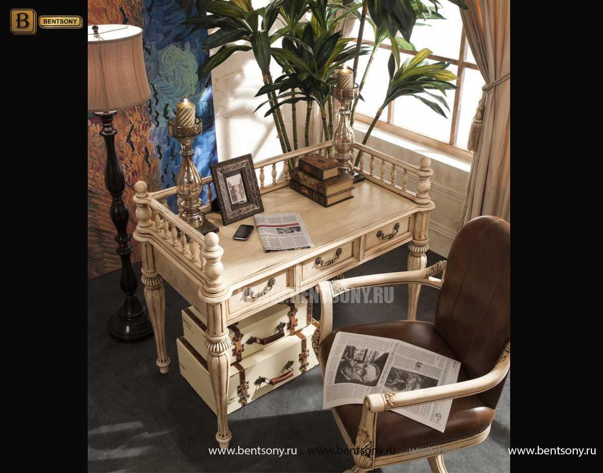 Письменный стол Феникс малый (Массив дерева, классика)