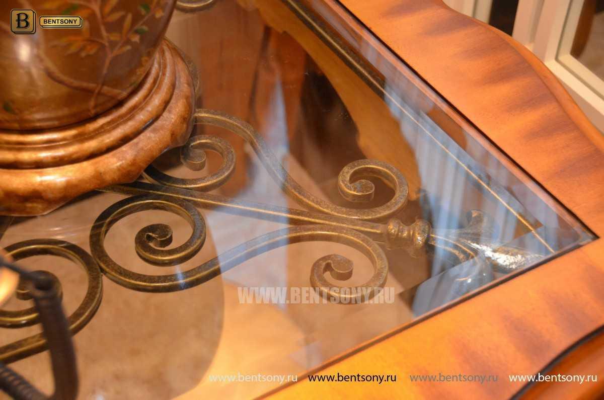 Стол Журнальный Чайный Дакота А (Массив дерева, стекло) для загородного дома