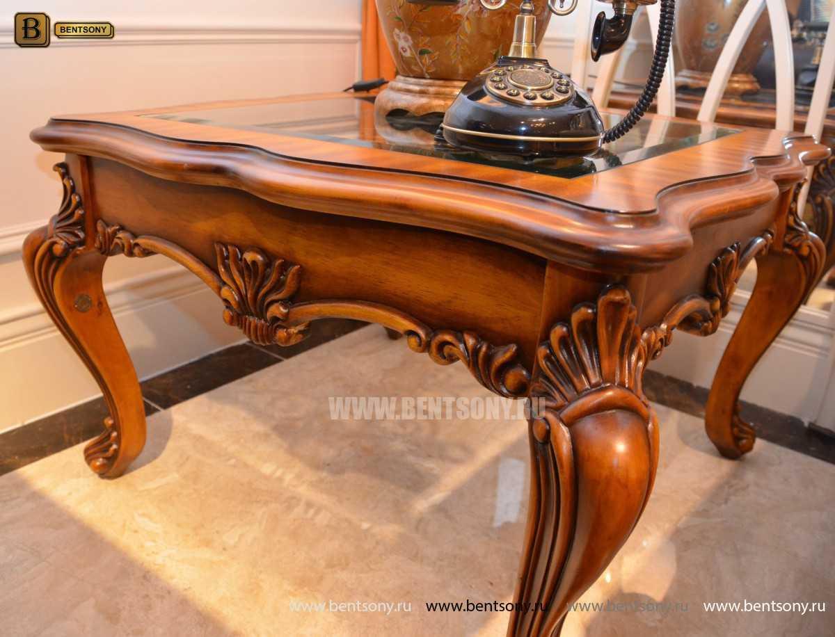 Стол Журнальный Чайный Дакота А (Массив дерева, стекло) каталог мебели с ценами