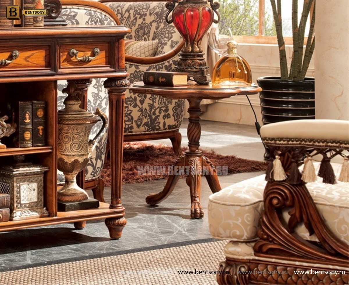 Стол журнальный круглый Феникс (деревянная  столешница)