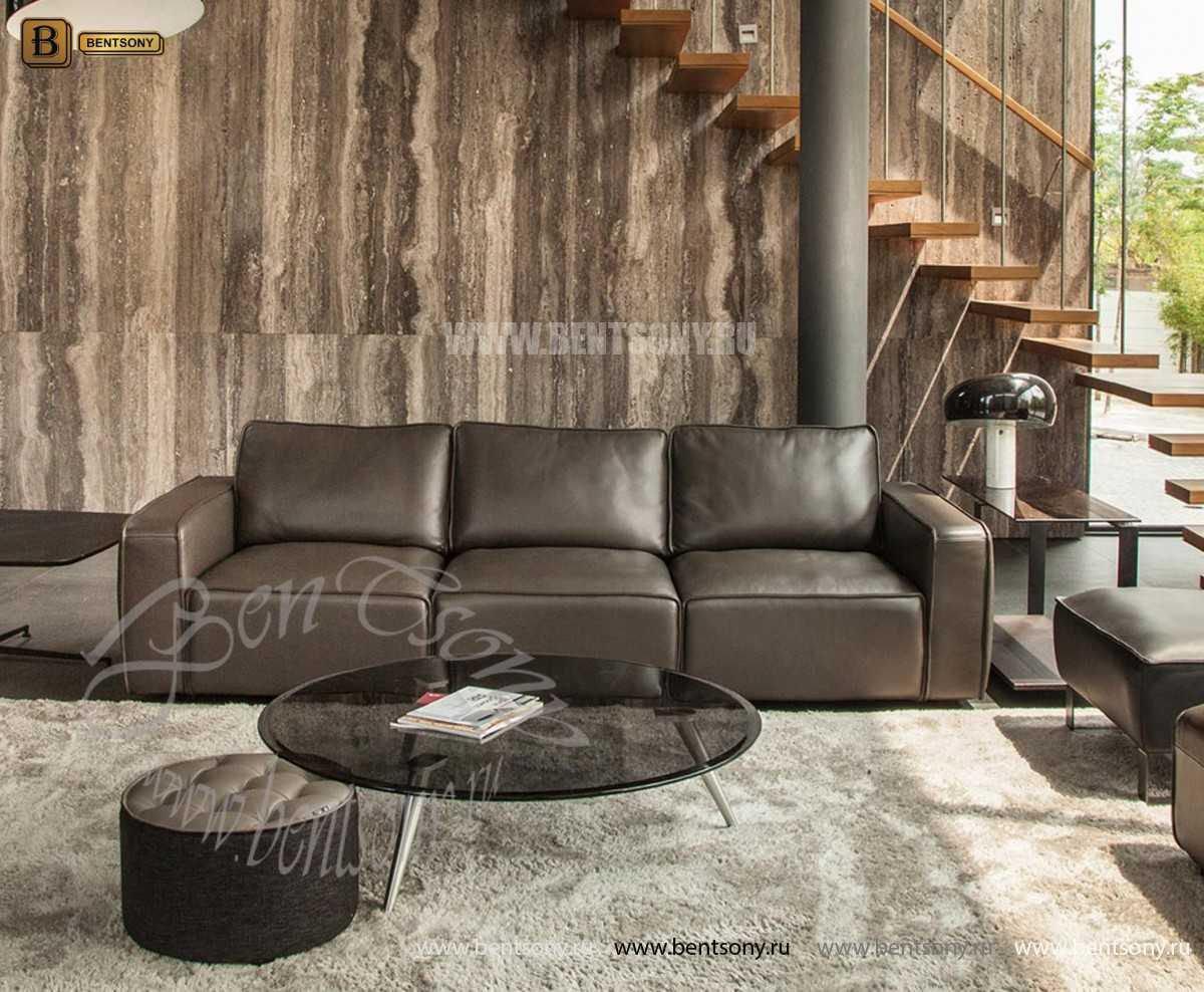 Диван Санзио (Прямой, Натуральная кожа) для квартиры