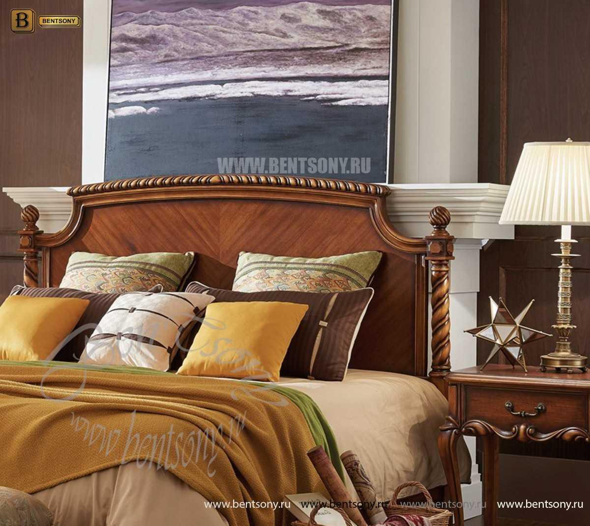 Кровать Лоренс B (Классика, Массив дерева) каталог мебели с ценами