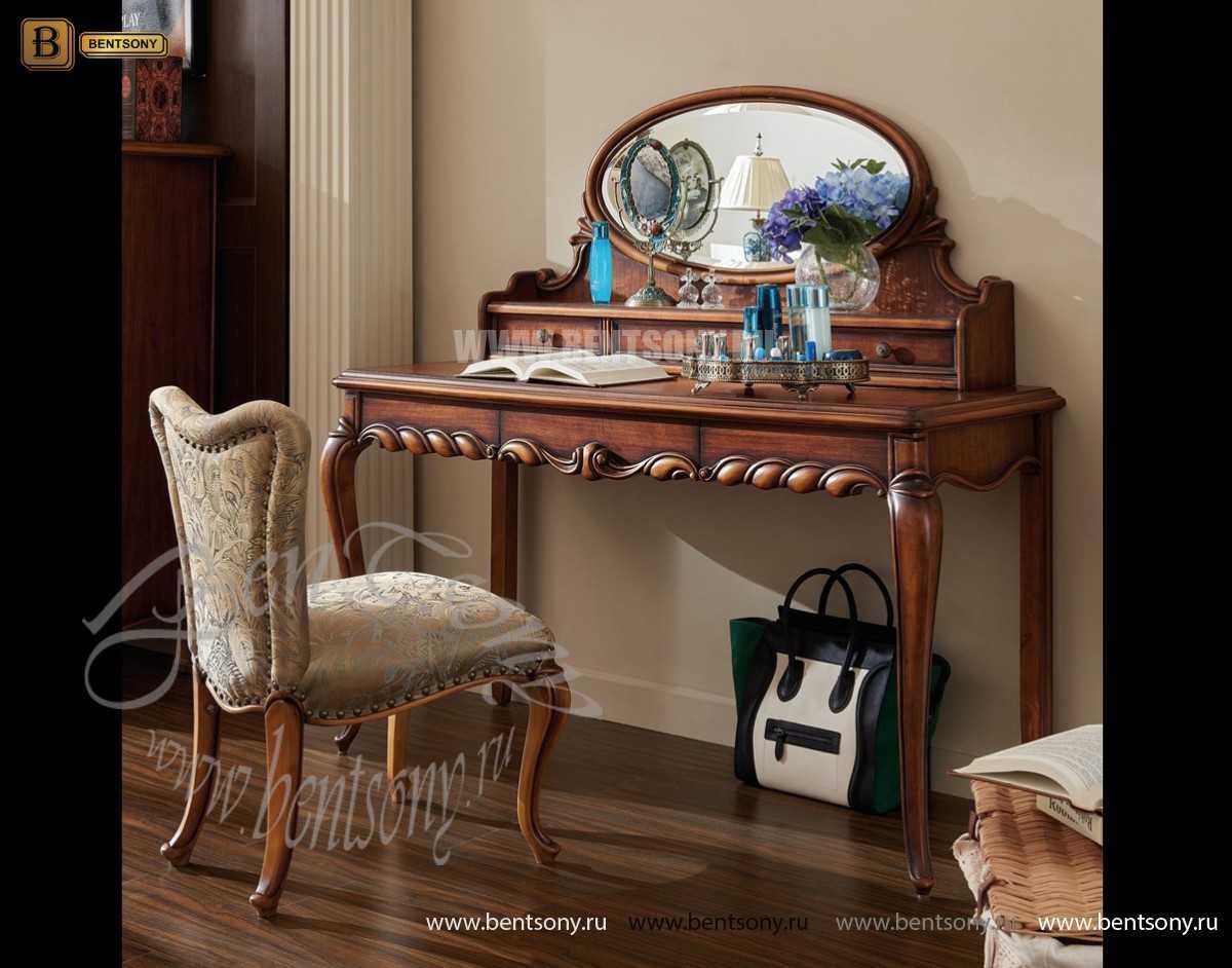 Стол туалетный Лоренс А с зеркалом (Классика, массив дерева) для загородного дома