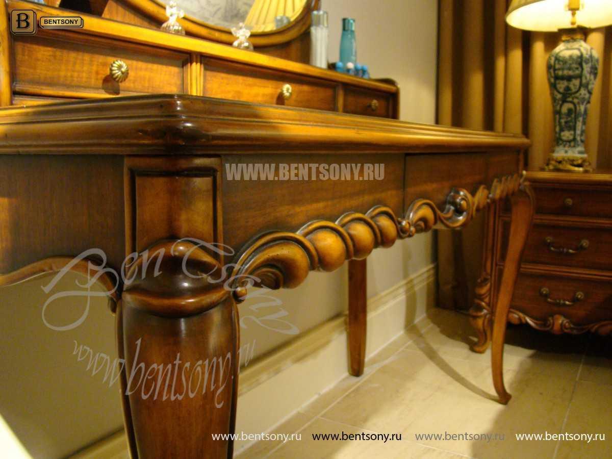 Стол туалетный Лоренс А с зеркалом (Классика, массив дерева)