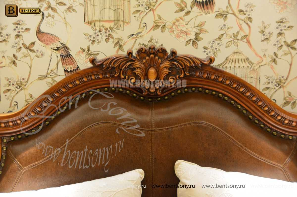 Спальня Монтана B (Натуральная кожа, массив дерева) в СПб