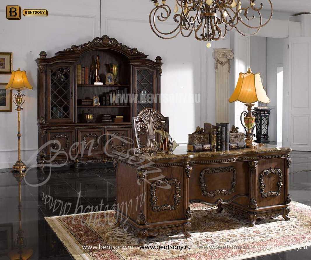Классический Письменный стол Рамирес (Массив дерева) в СПб