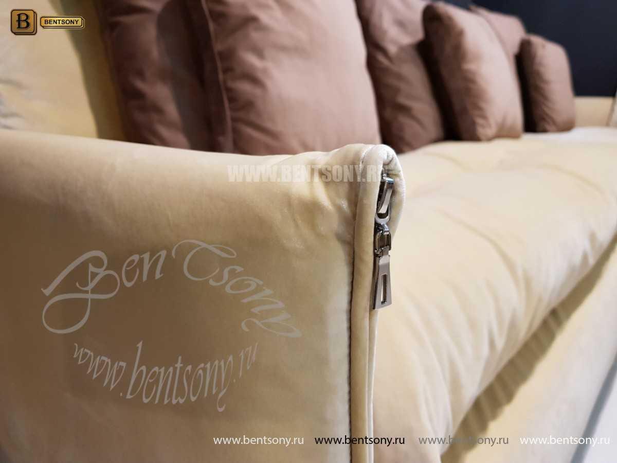 Диван Арлетто (Угловой с шезлонгом, Велюр) каталог мебели с ценами