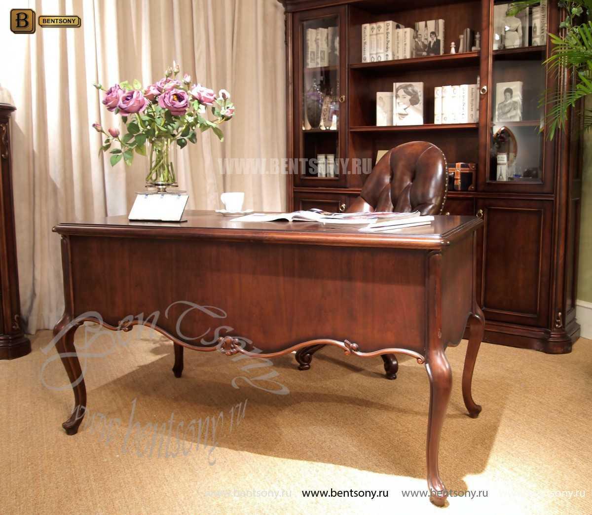 Письменный стол Крофорд (Массив дерева, классика) купить в Москве