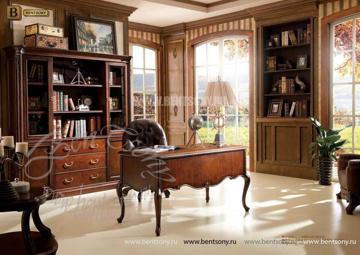 Шкаф Книжный Крофорд (Классика, массив дерева) в интерьере