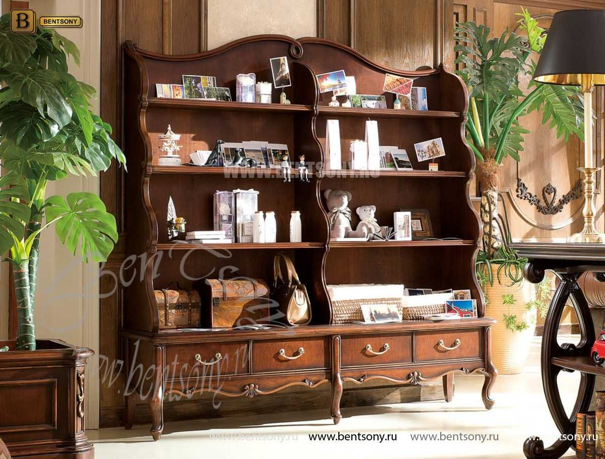 Книжный шкаф-этажерка Крофорд (Классика, массив дерева)