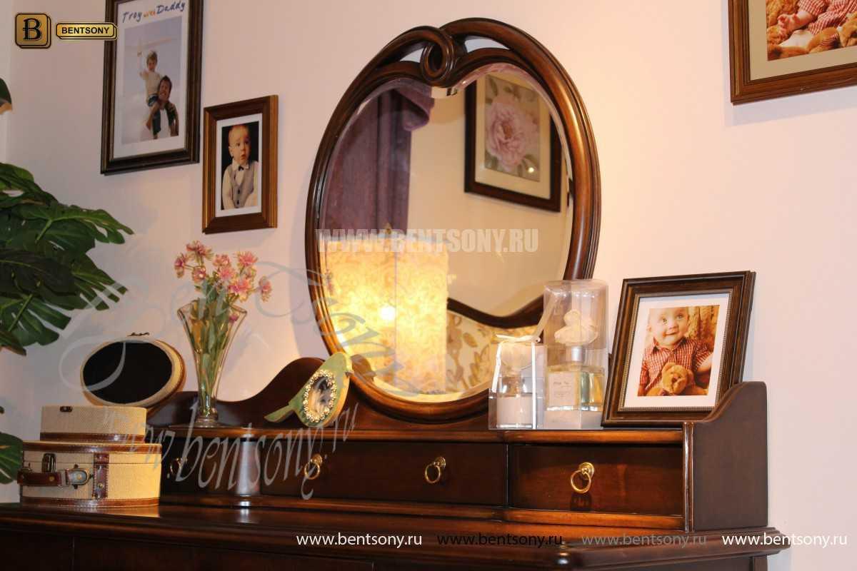 Стол туалетный Крофорд А с зеркалом (Массив дерева, классика)