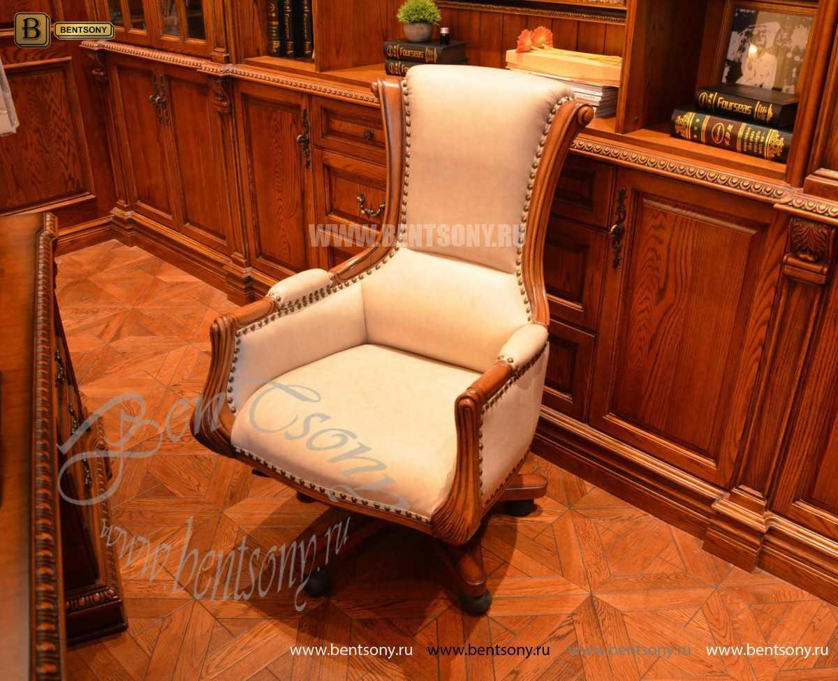 Классическое Кресло Кабинетное Монтана (Натуральная кожа)  для загородного дома