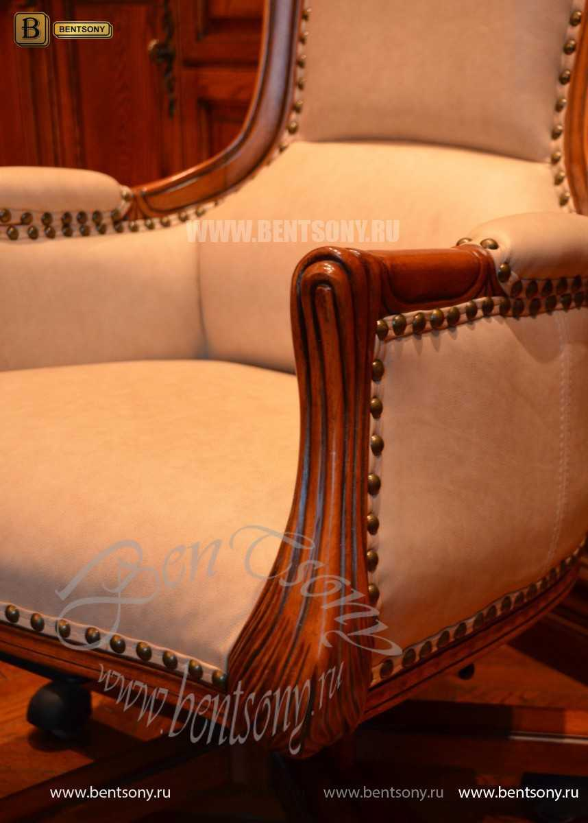 Классическое Кресло Кабинетное Монтана (Натуральная кожа)