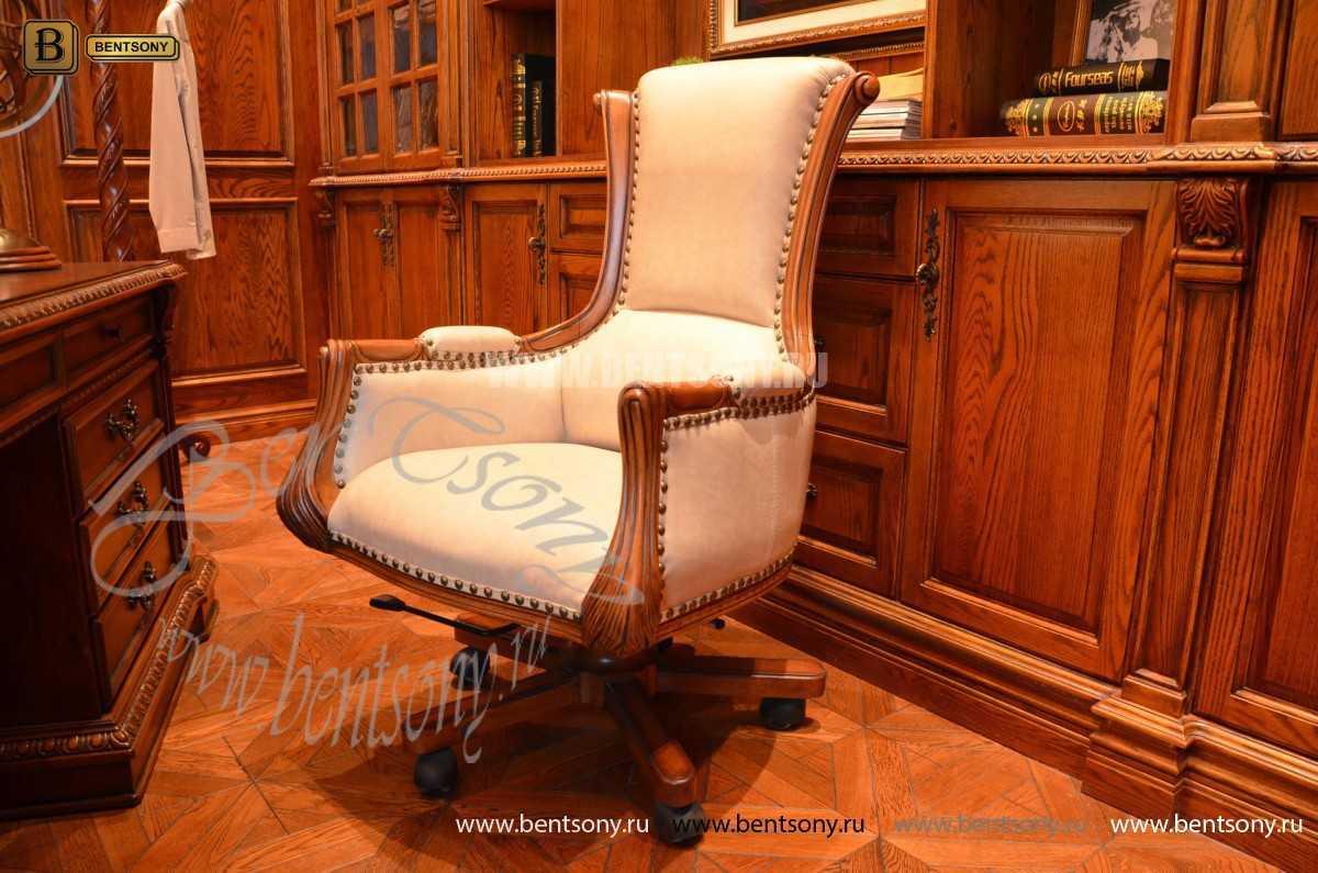 Классическое Кресло Кабинетное Монтана (Натуральная кожа)  фото