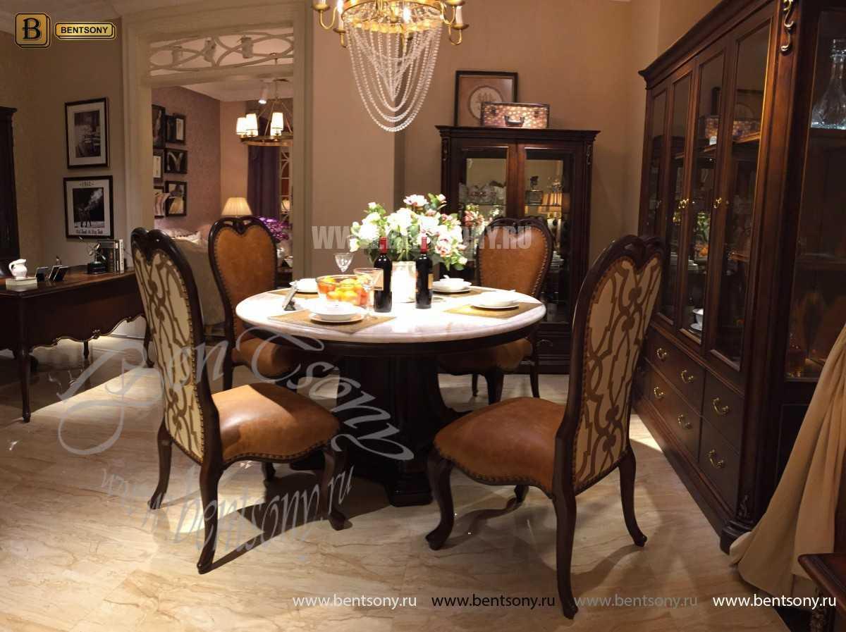 Стол обеденный круглый Крофорд (Классика, массив дерева) каталог мебели