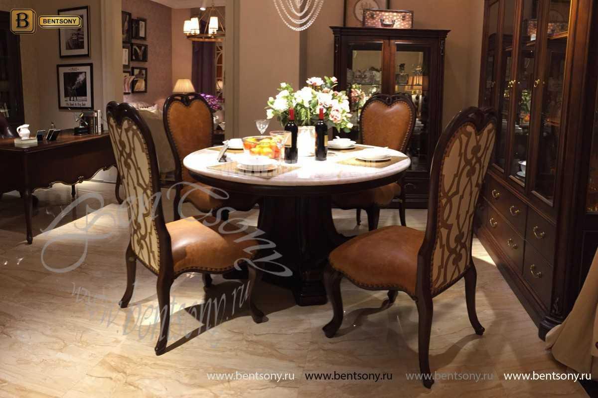 Стол обеденный круглый Крофорд (Классика, массив дерева) каталог мебели с ценами