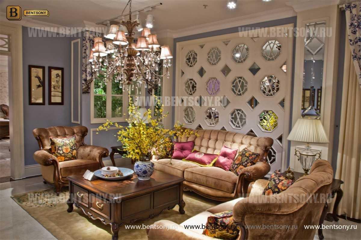 Диван Крофорд С (Классика, Ткань, массив дерева) каталог мебели