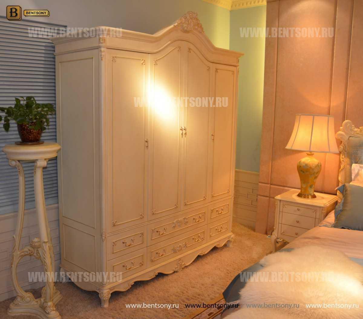 Шкаф 4-х дверный Митчел (Массив дерева, Классика)