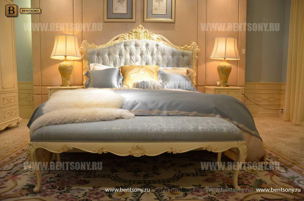 Спальня Митчел А (Классика, Ткань, Белый цвет)