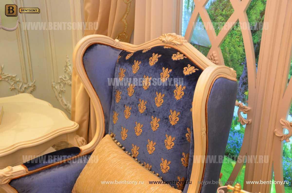Кресло для отдыха Митчел с подушкой, Пуф (Классика, Ткань)