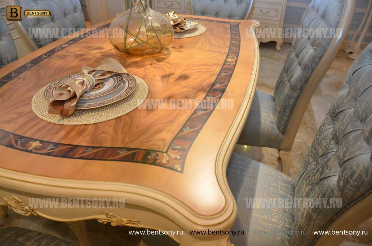 Стол обеденный Митчел прямоугольный (Классика, массив дерева)