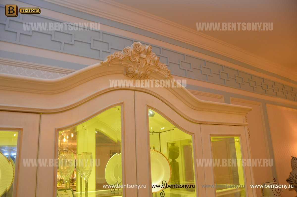 Витрина 4-х дверная Митчел (Массив дерева, классика) официальный сайт цены