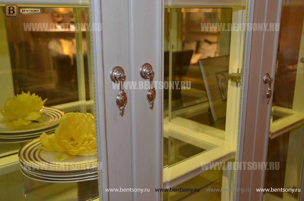 Витрина 4-х дверная Митчел (Массив дерева, классика) распродажа