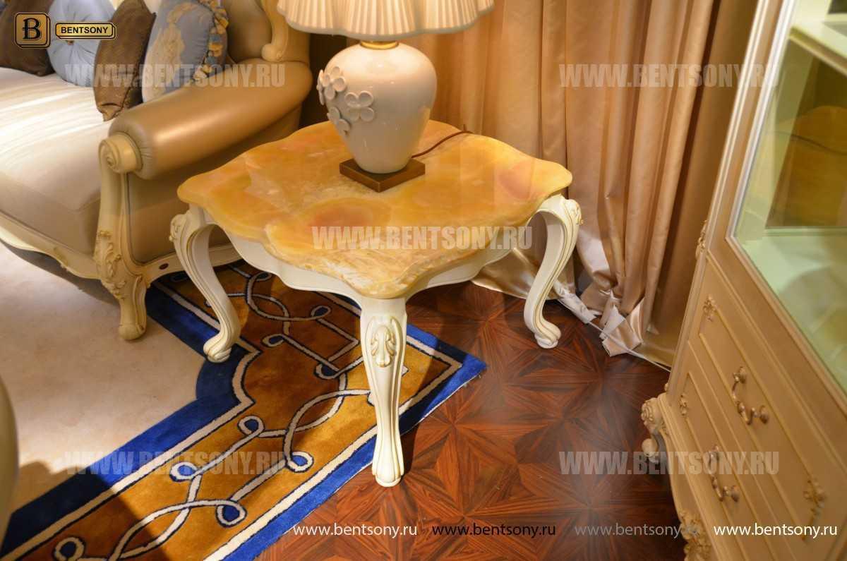 Стол журнальный Митчел В квадратный маленький (Мрамор) цена