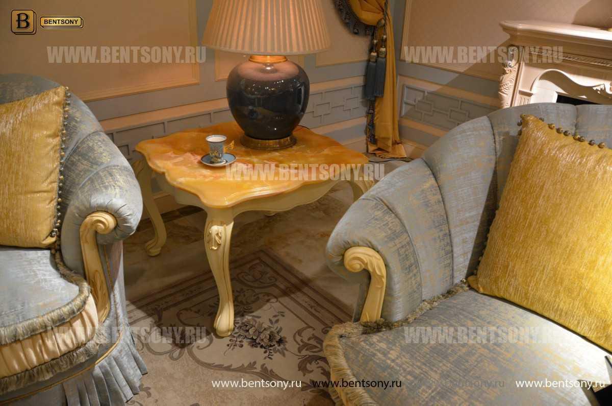Стол журнальный Митчел В квадратный маленький (Мрамор) для дома