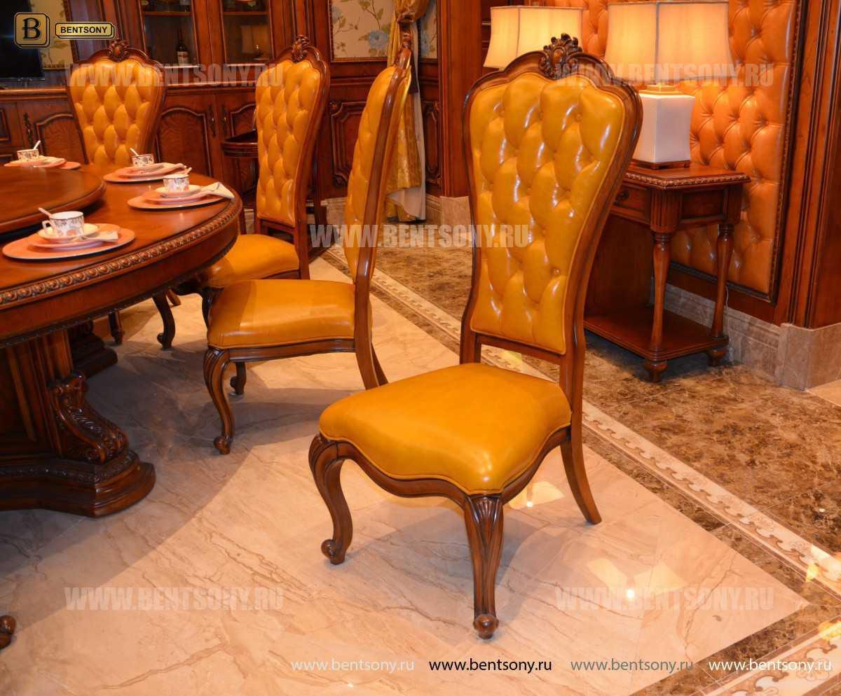 Классический стул Монтана А без подлокотников (Капитоне, Натуральная кожа)