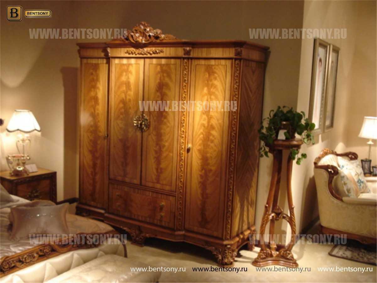 Шкаф 4-х дверный Белмонт А (Массив дерева, Классика)