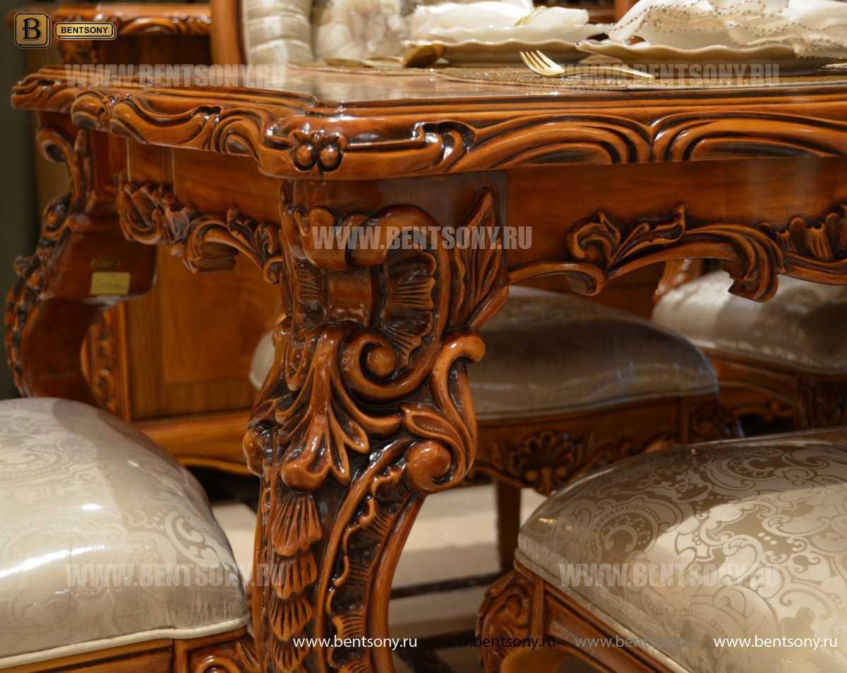 Стол обеденный Белмонт прямоугольный (массив дерева) каталог мебели с ценами
