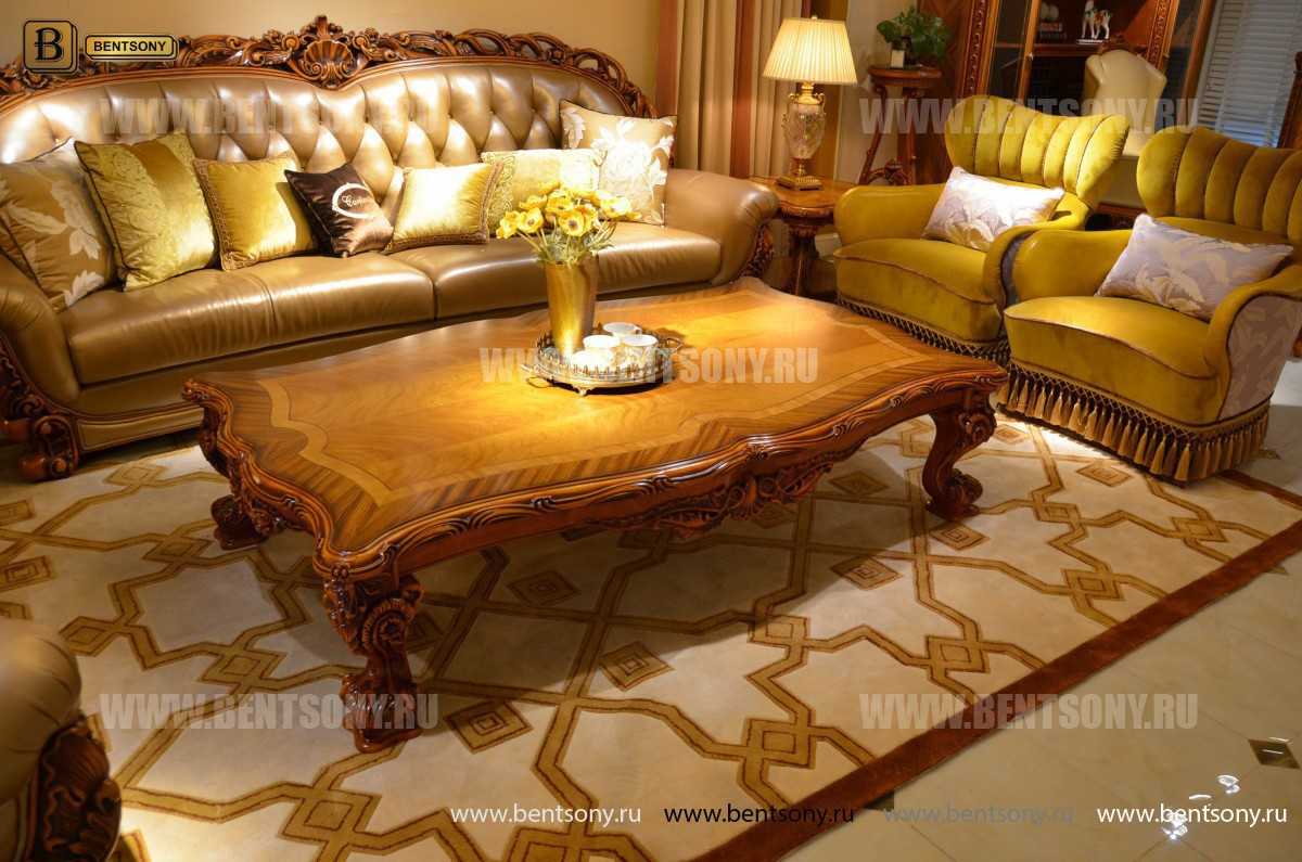 Стол Журнальный Прямоугольный Белмонт А большой (Массив дерева, Классика) каталог мебели