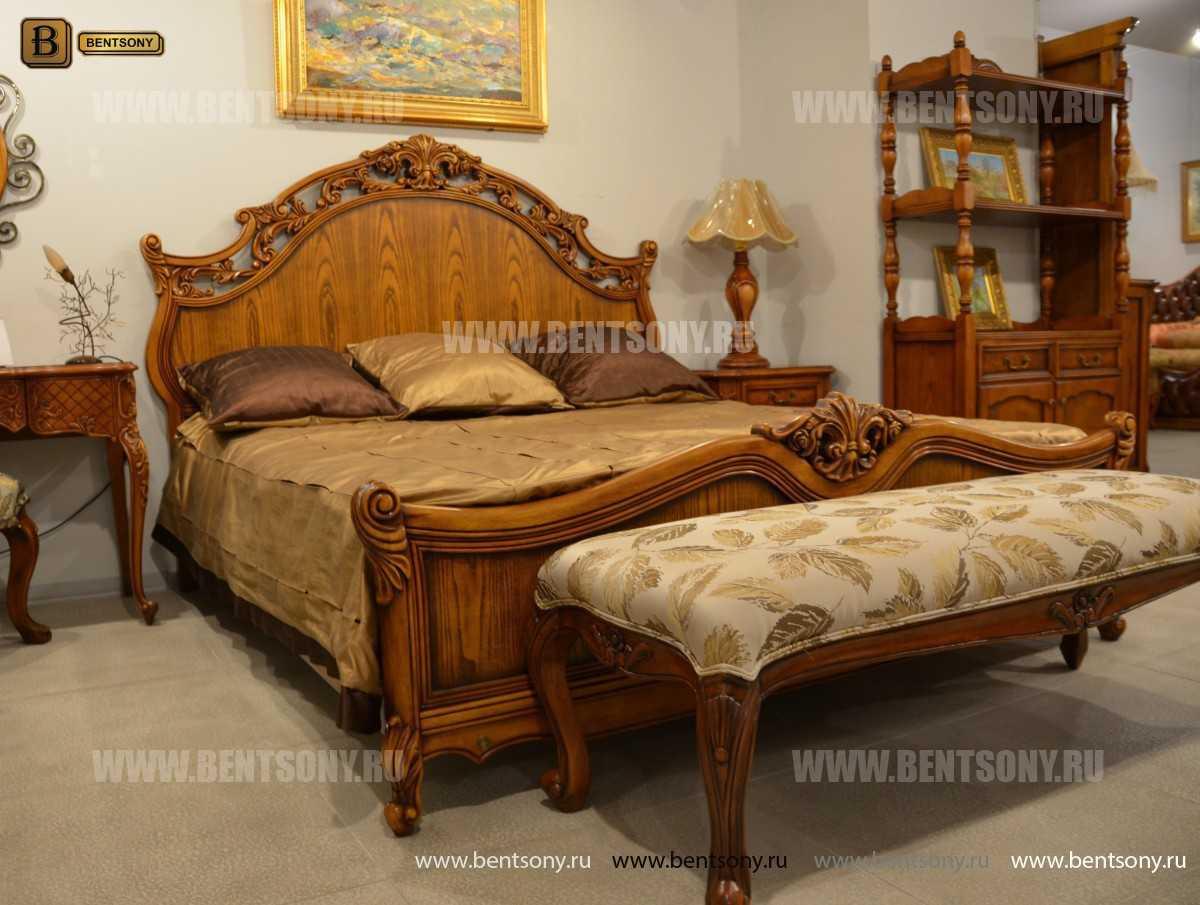 Кровать Феникс С (Классика, Массив дерева) для квартиры
