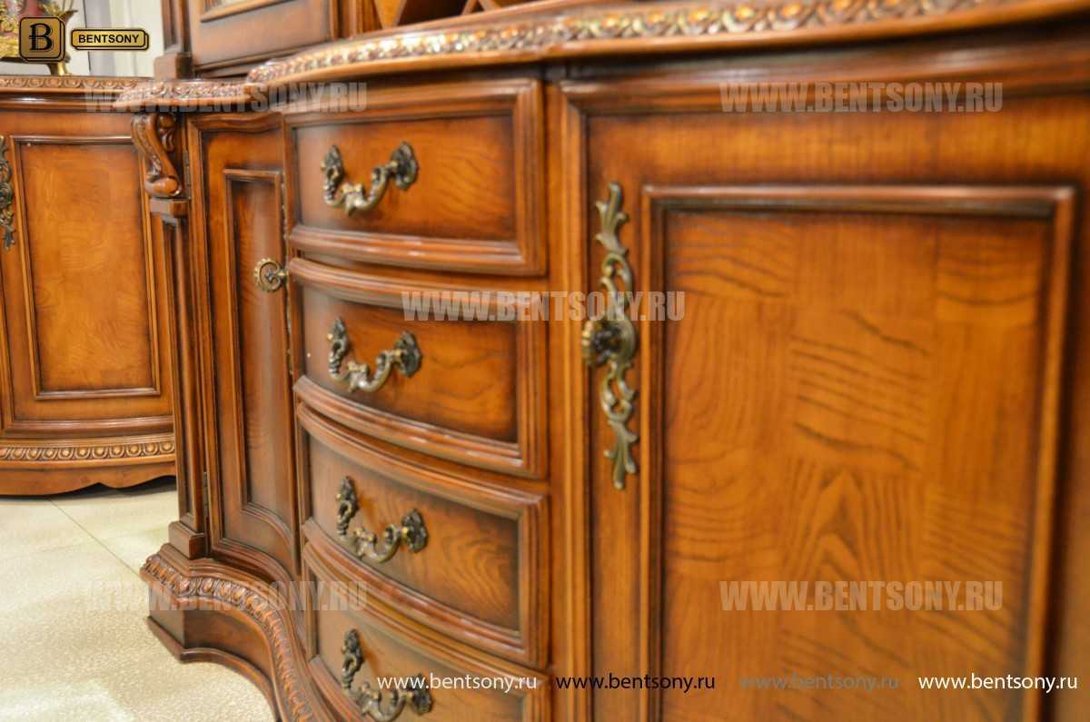 Барный шкаф 3-х дверный Монтана (Классика, массив дерева) каталог