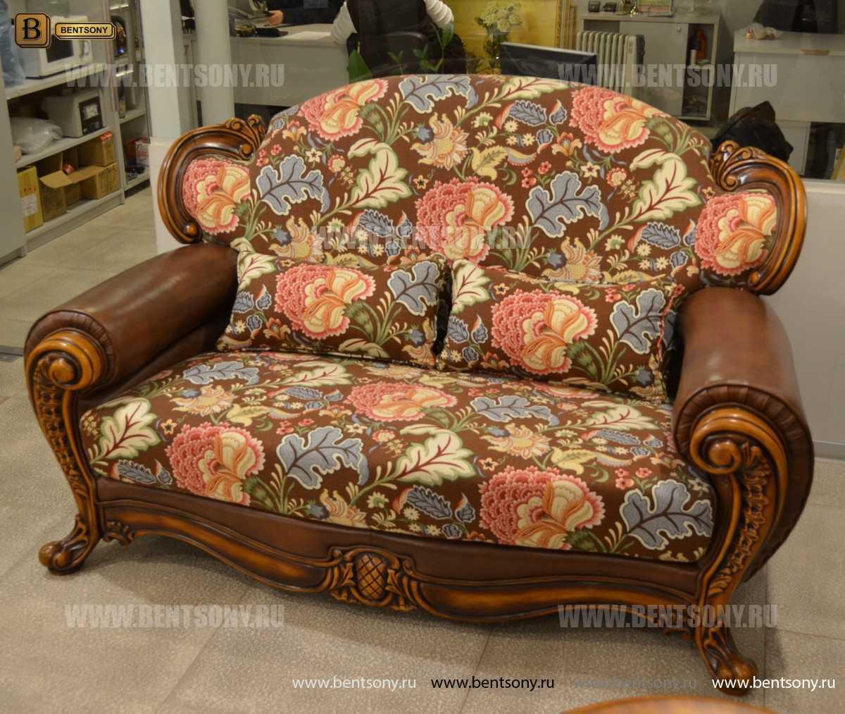 Диван двойной Кушетка Дакота D (Классика, массив дерева) каталог мебели с ценами