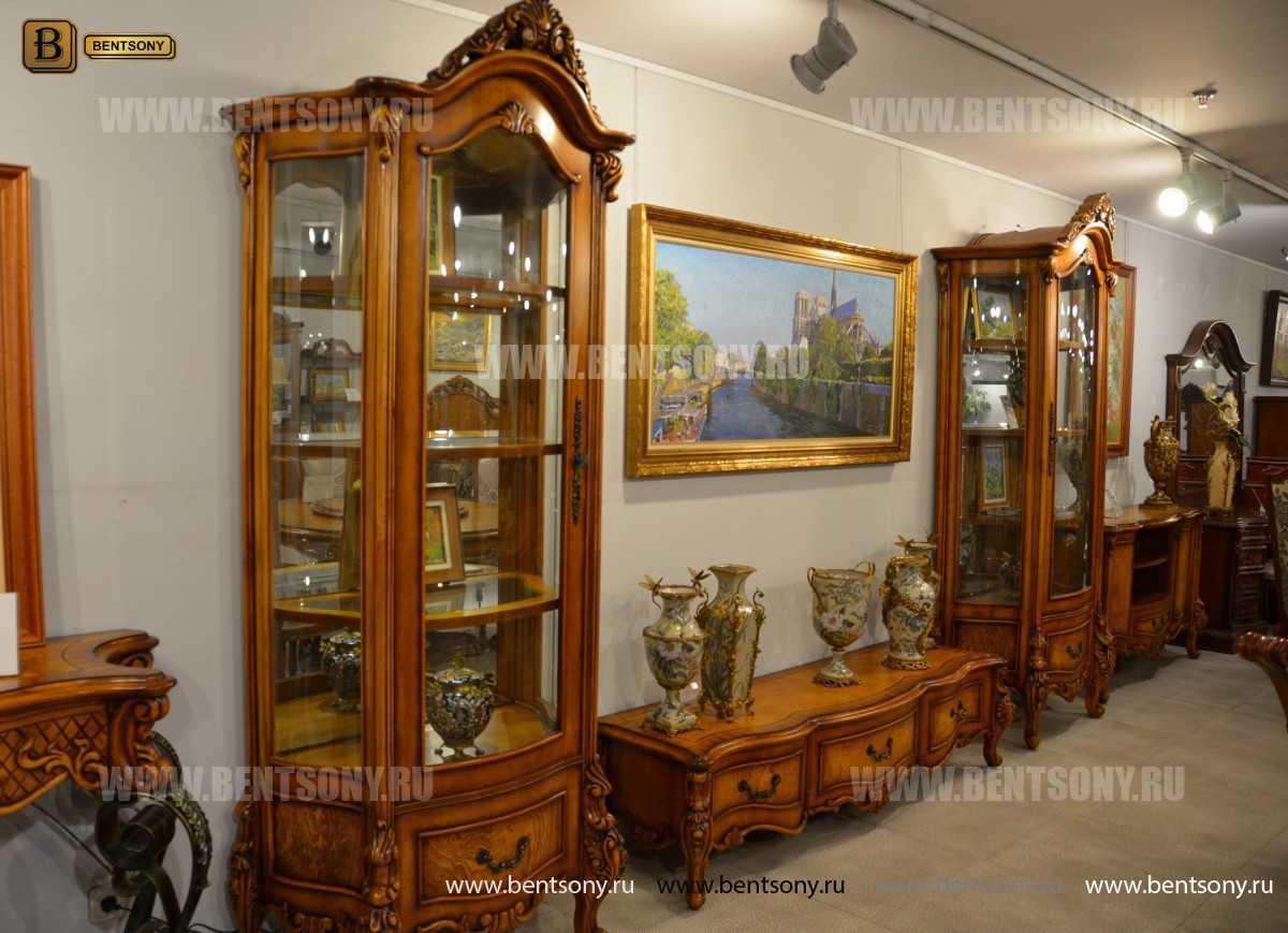 Стенка Дакота М18 (Классика, массив дерева) каталог мебели