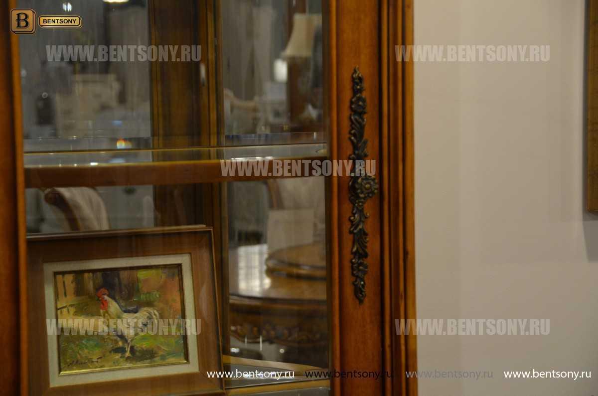 Витрина однодверная Дакота (Классика, массив дерева) купить в Москве