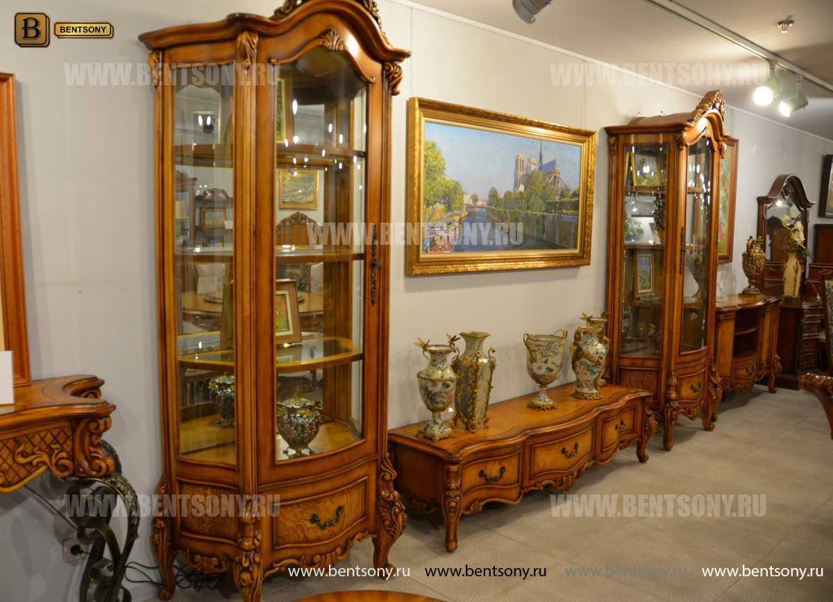 Витрина однодверная Дакота (Классика, массив дерева) магазин Москва