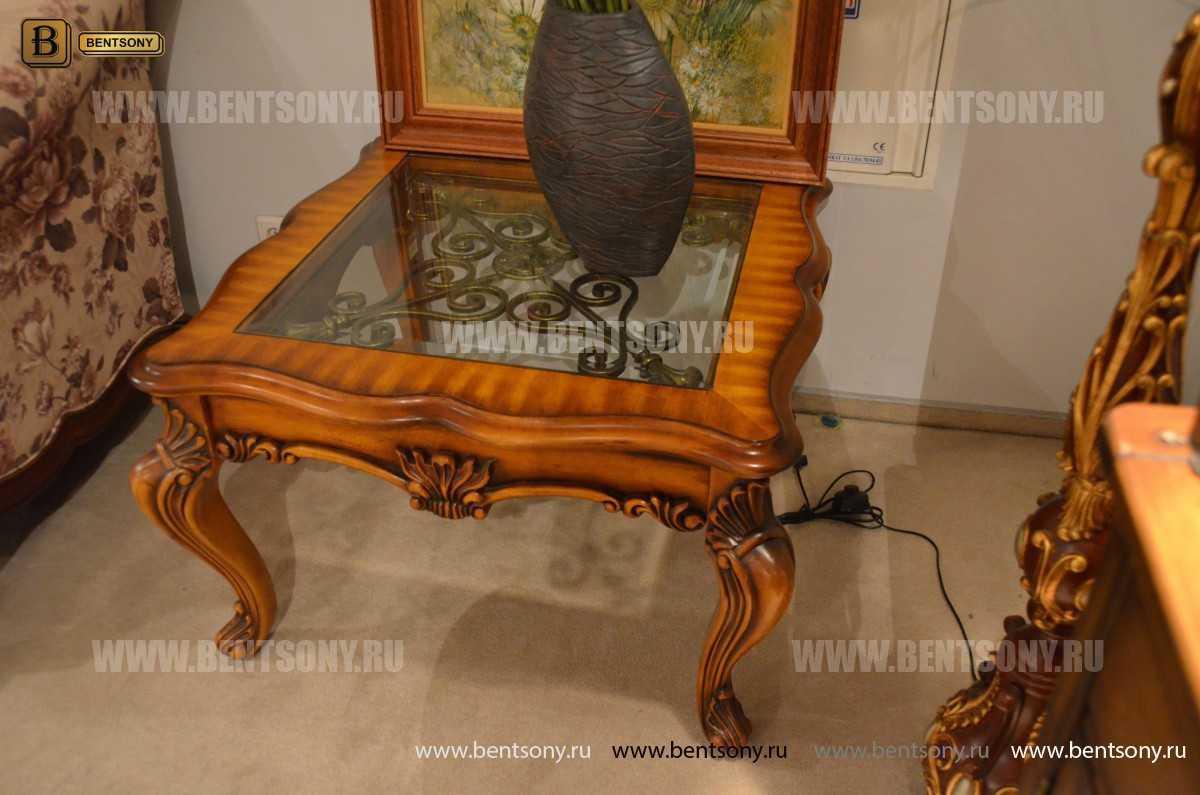 Стол Журнальный Чайный Дакота А (Массив дерева, стекло) в СПб