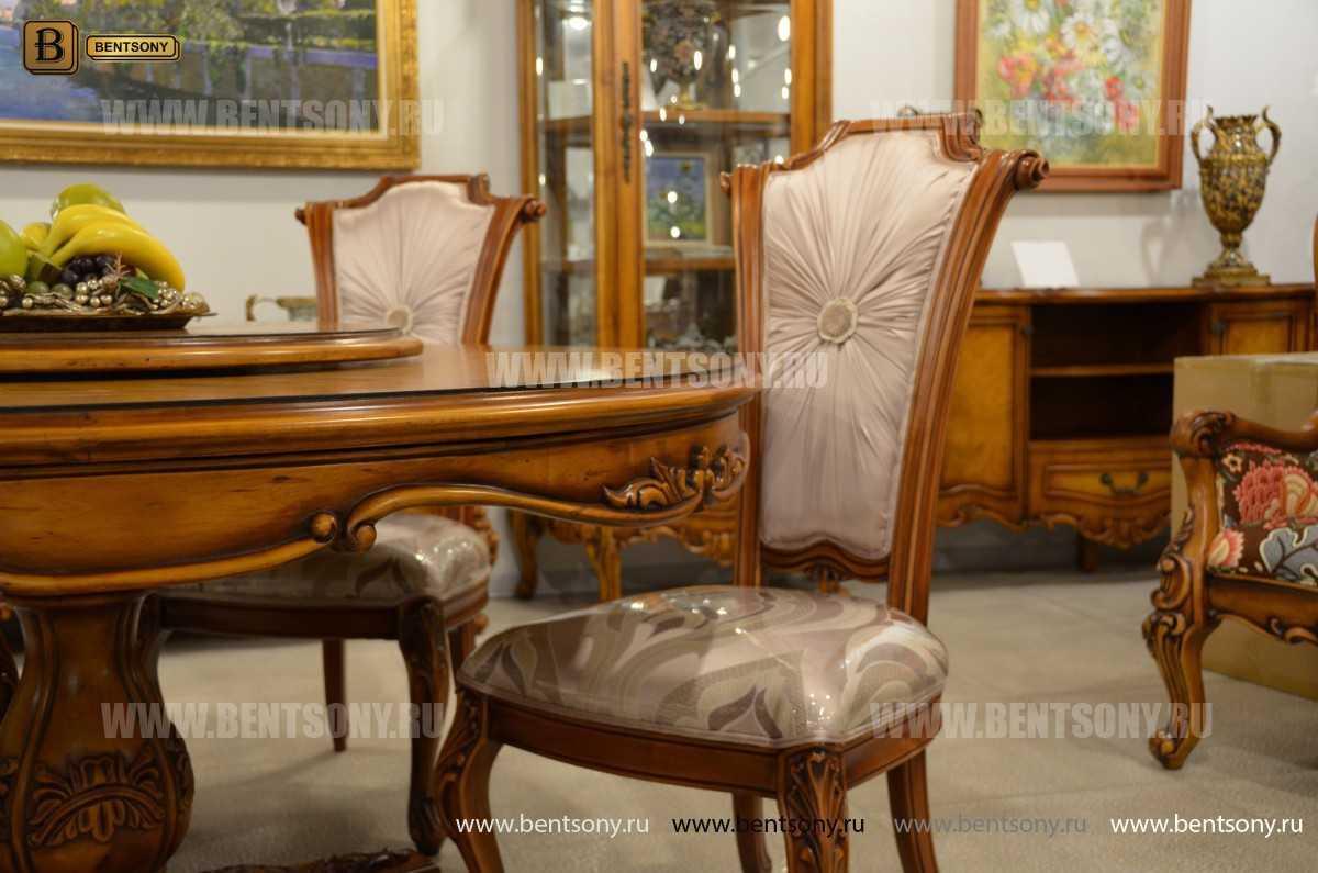 Обеденный стол Дакота А (Круглый, массив дерева) купить в СПб