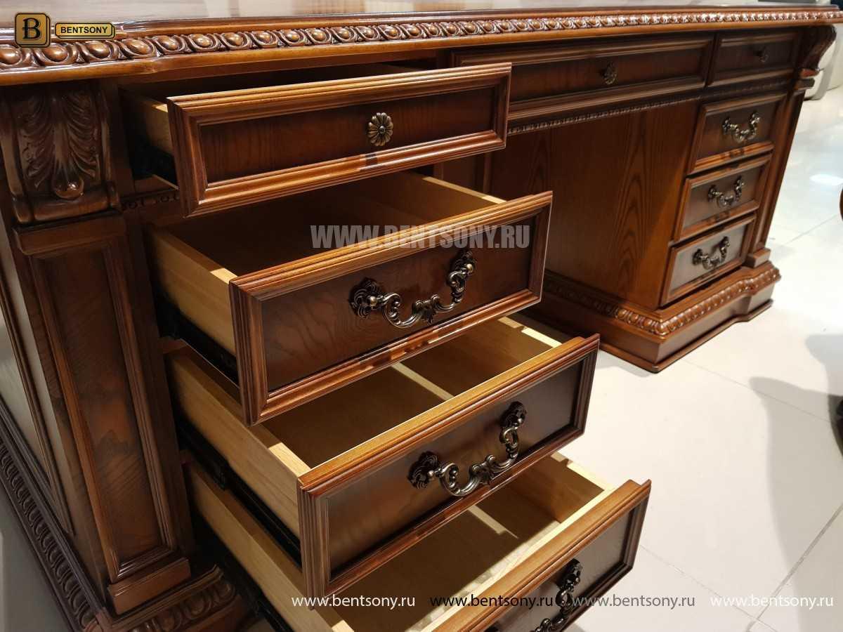 Письменный стол Монтана большой (классика, массив дерева) каталог с ценами