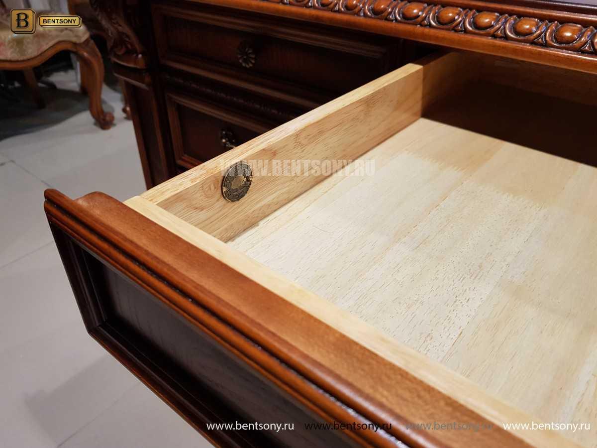 Письменный стол Монтана большой (классика, массив дерева) для загородного дома