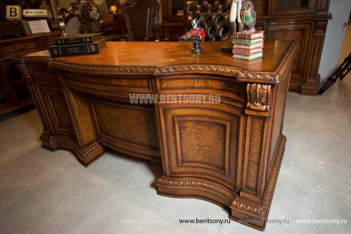 Письменный стол Монтана большой (классика, массив дерева) каталог мебели