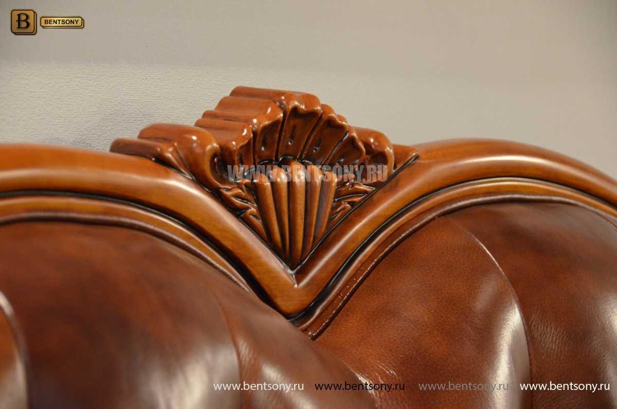Кровать Флетчер А (Классика, Натуральная кожа)