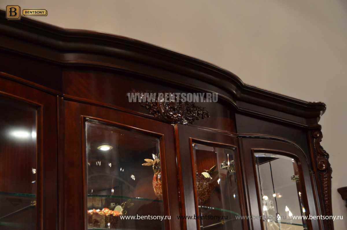 Витрина 4-х дверная Вагнер (Массив дерева, классика) купить в СПб
