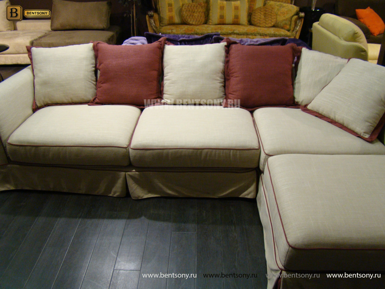 Диван Белладжио (Тканевый, с Шезлонгом) каталог мебели с ценами