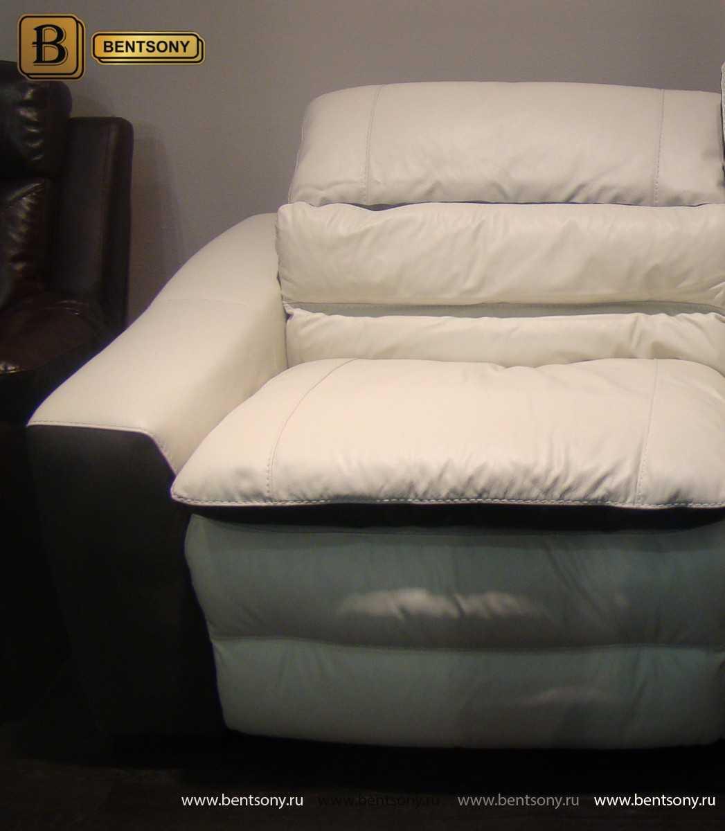 белая кожа диван Урбано