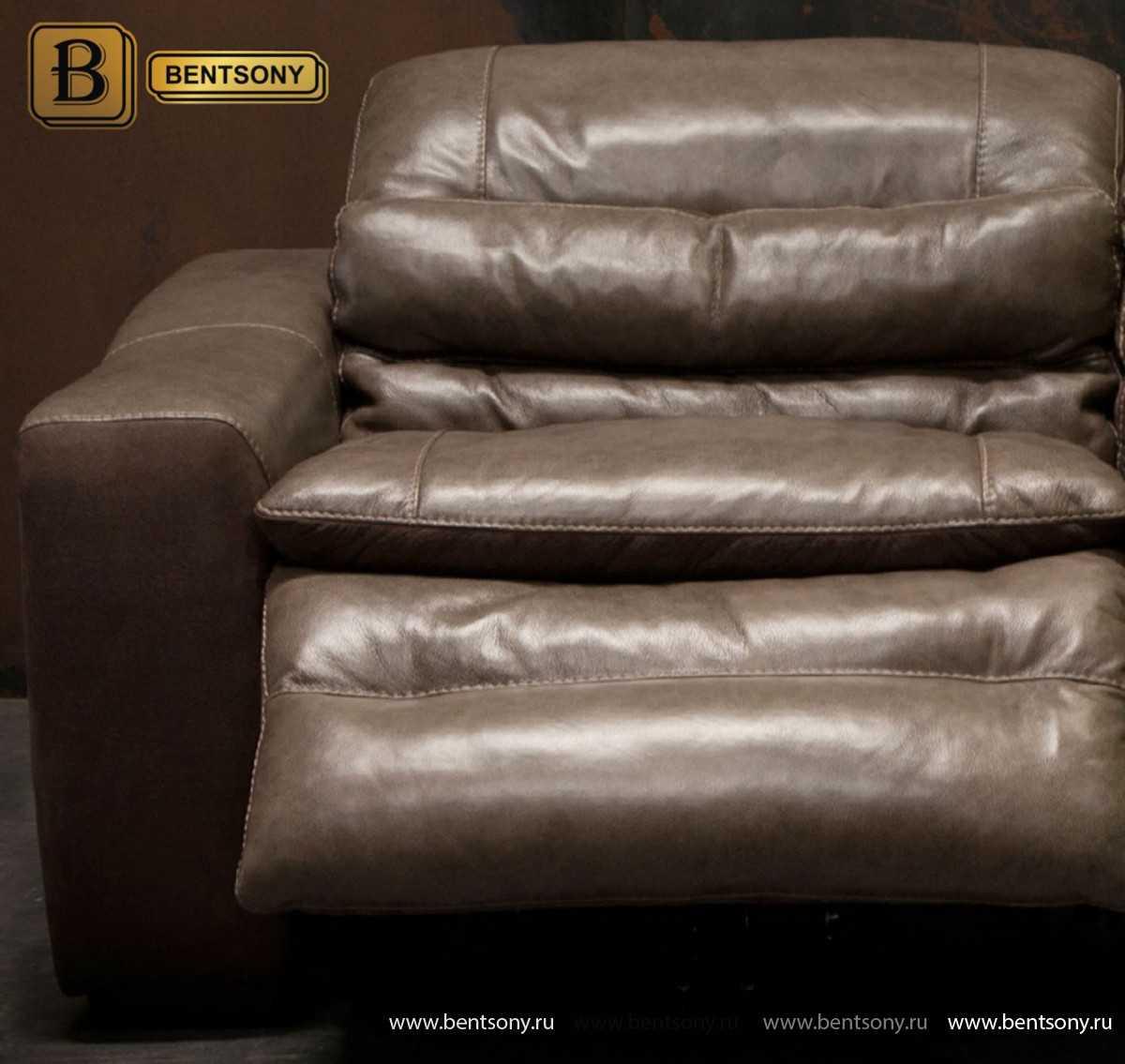 кожа цвет коричневый диван Урбано